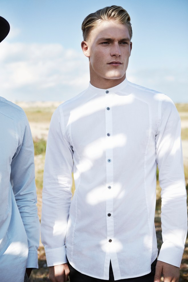 River Island Holloway Road A/W14 Menswear Lookbook white structured shirt formal tailoring suiting