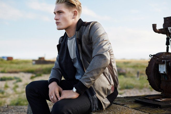 River Island Holloway Road A/W14 Menswear Lookbook bomber jacket black skinny jeans casual sports outfit style instagram