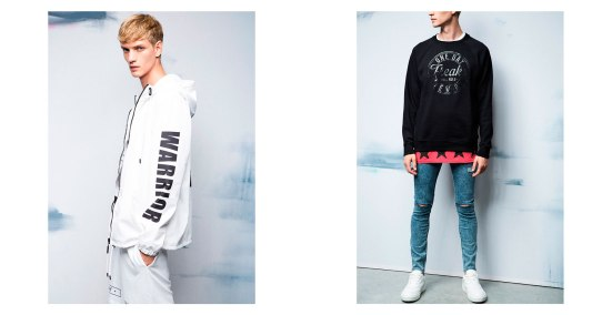 Bershka 'September' Menswear Lookbook A/W14 menswear tartan denim acid wash skinny jeans jumper knitwear style fashion lookbook collection
