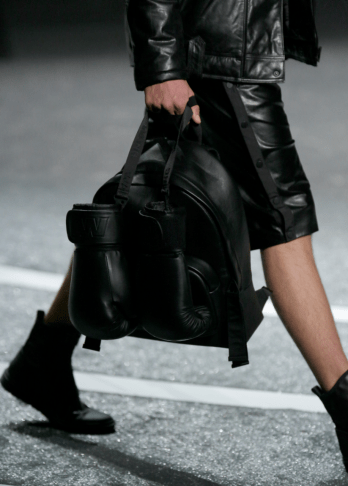 Alexander Wang For H&M Menswear Collection #AlexanderWangXHM leather backpack gloves shorts jacket coat bomber mesh leather all black