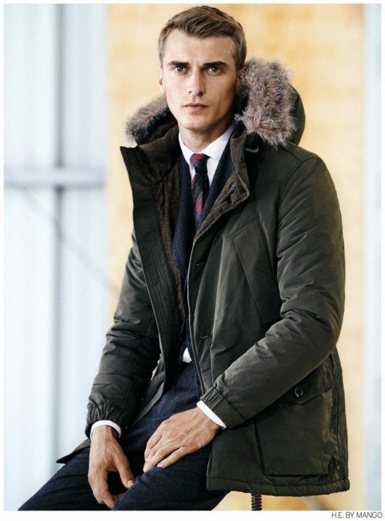 HE By Mango A/W14 Lookbook Update. mango spanish zara inditex fashion style menswear mensfashion lookbook collection wiwt ootd autumn winter aw aw14 parka coat