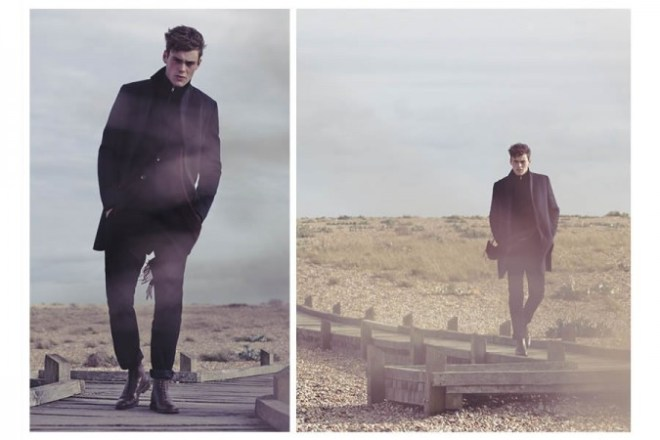 Reiss A/W14 'Cover Story' Menswear Lookbook. mensfashion menwear autumn winter 2014 outerwear shoot collection male model