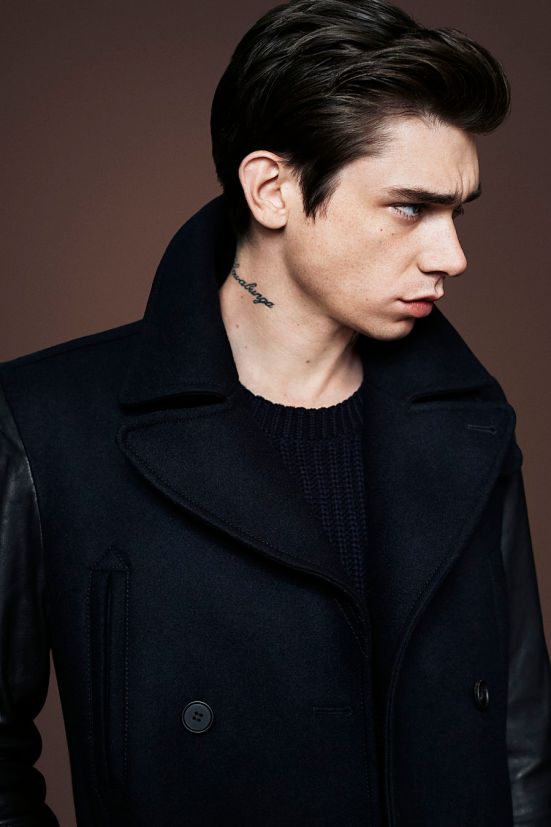 AllSaints Christmas 2014 Menswear Lookbook outerwear leather coats autumn winter aw14
