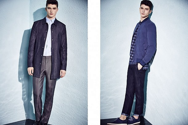 River Island S/S15 Menswear Lookbook menswear mensfashion lookbook style spring summer 2015 denim jacket blue win prize cash competition giveaway