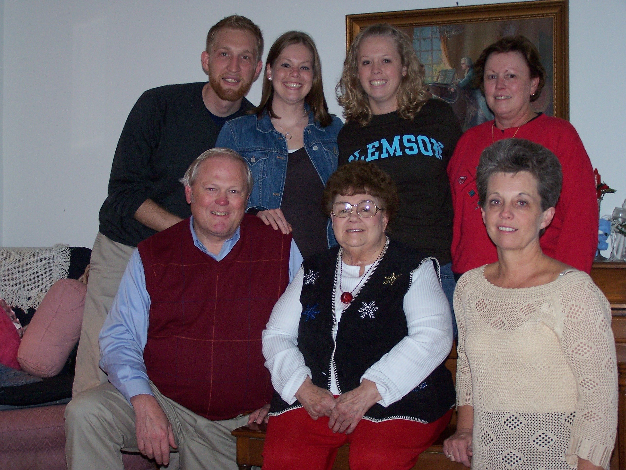 Grandma Benton with her children and grandchildren.