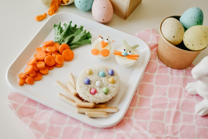 easter lunch carrot plastic egg lunch fun food kids