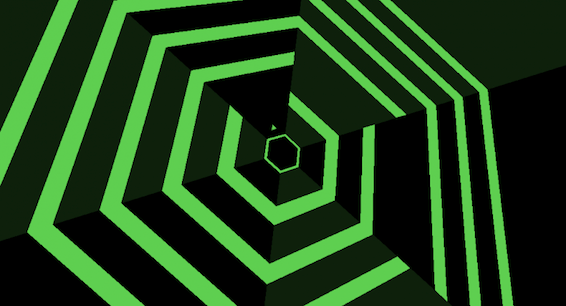 Super Hexagon game