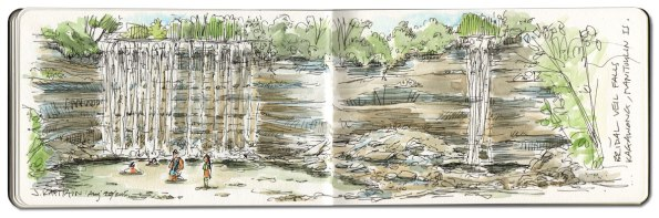 'Bridal Veil Falls, Manitoulin Island' (2015) by Jamie Kapitain.