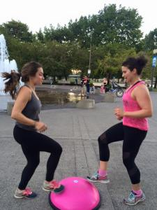 BOSU partner workout - toe taps