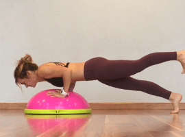 BOSU one legged push-up