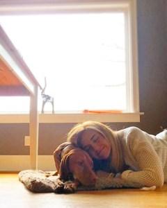 nap with vizsla