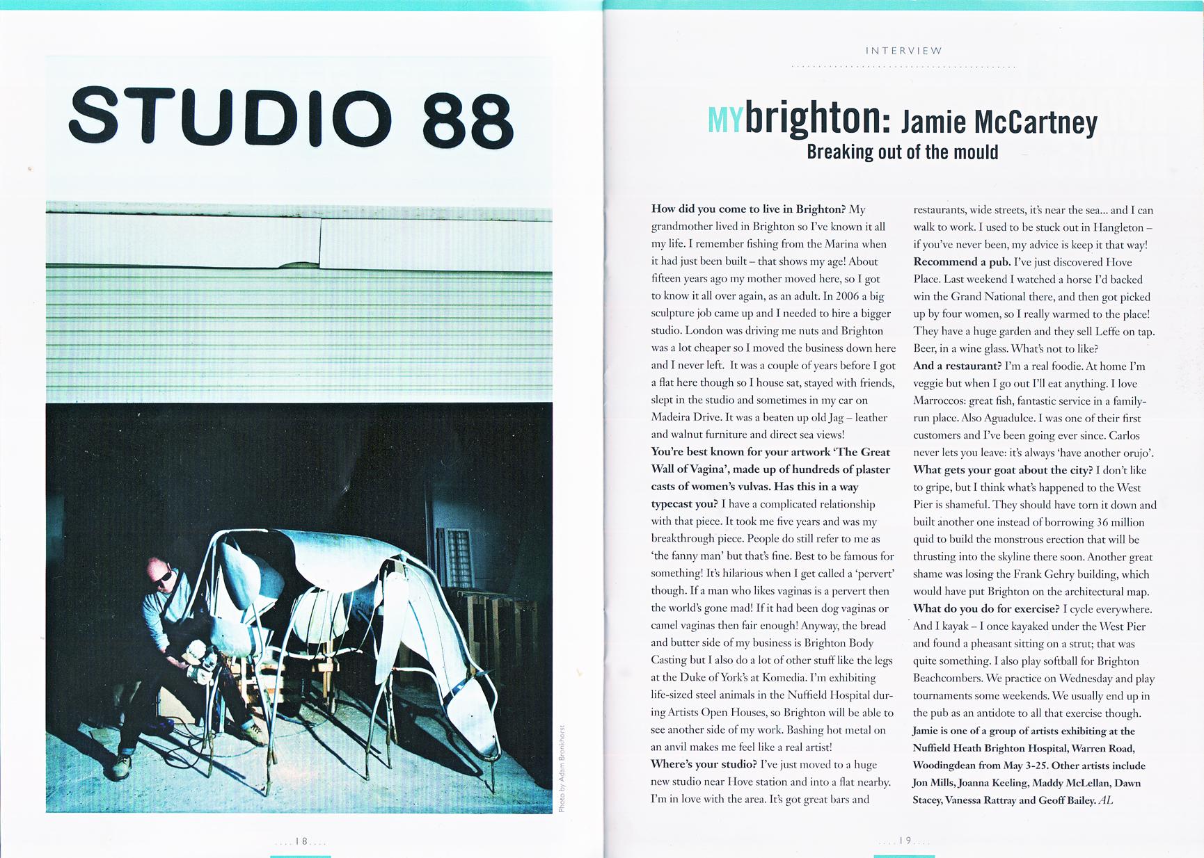 Viva Brighton Magazine Jamie McCartney