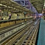 Train Platform on a Rainy Chicago Day