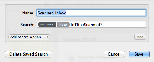 Scanned Inbox Saved Search