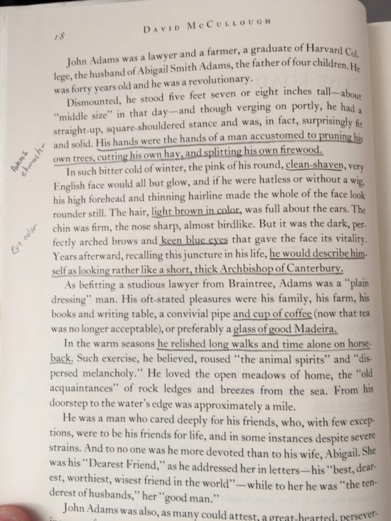 An annotated page of John Adams