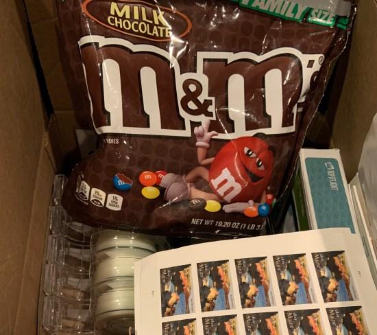 My secret stash of M&Ms