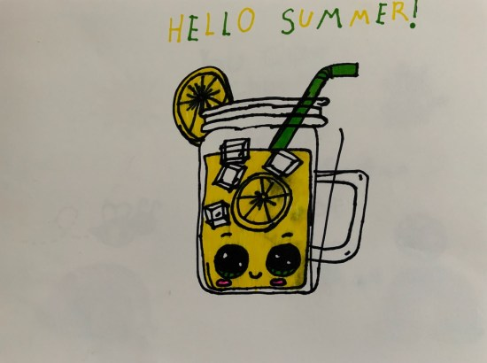 Hello Summer artwork by the Little Miss