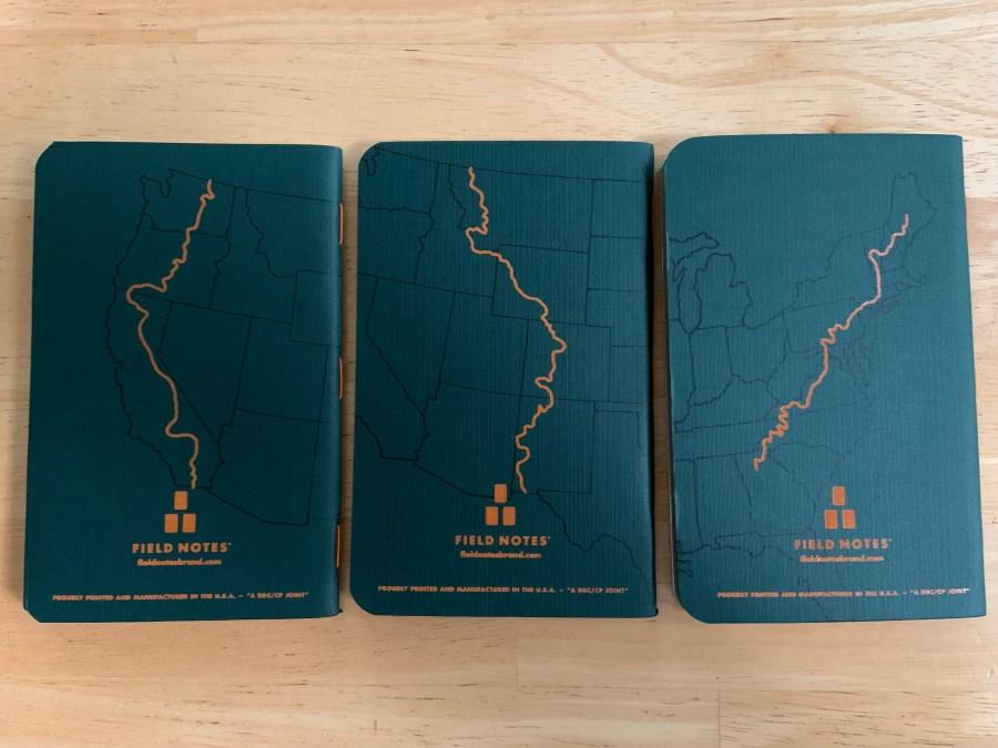"My new Field Notes ""Trailhead"" notebooks"