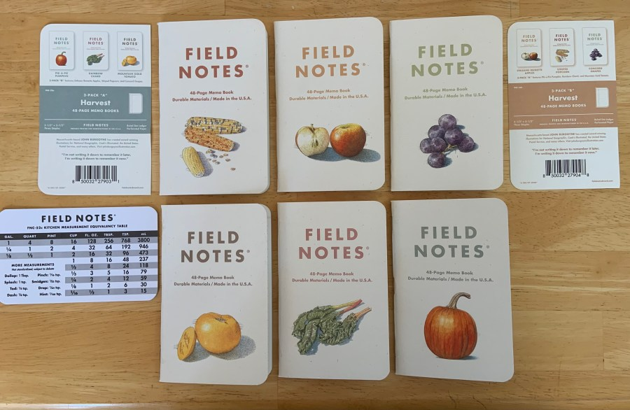my new field notes harvest editions