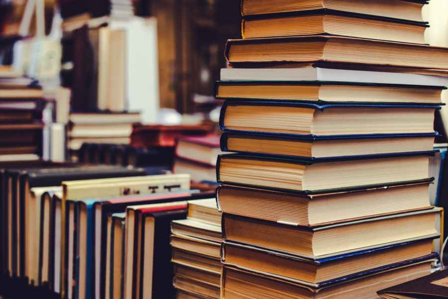 close up photo of stacked books