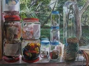 "Sculpture Ingredient Hopefuls, acrylic on canvas, 30"" x 40"" | 2013"