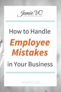 How to handle employee mistakes in your business