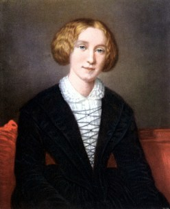 George Eliot (1819-1880) pen name of Mary Ann Evans. Important British novelist. Author of 'Adam Bede', 'Silas Marner', 'The Mill on the Floss', 'Romola',' Felix Holt', Middlemarch', 'Daniel Deronda', etc. Eliot as a young woman, after the portrait by F