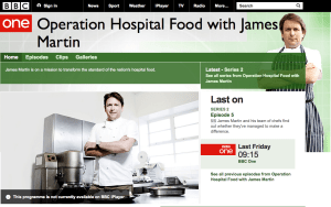 Screen shot from BBC Website Operation Hospital Food