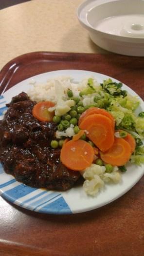 Pork Belly, Rice, Veg
