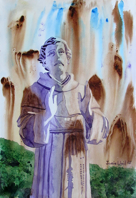 Watercolor St Francis