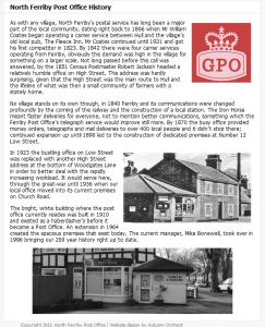 Post Office History