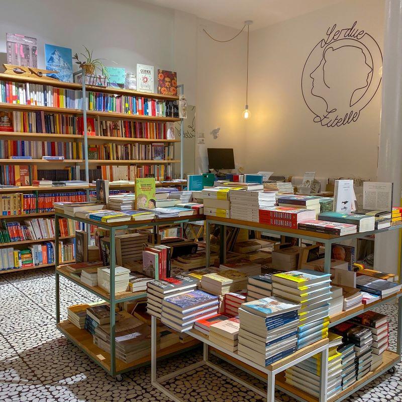 interno della libreria Le due zitelle a Belluno