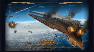 Sith Empire Star Destroyer Under Attack