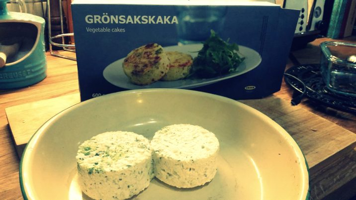 Thought it was about time to try my other veggie buy from IKEA, Leek and potato cakes...