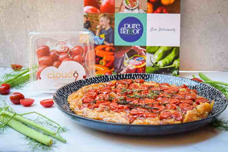 Sweet Tomato & Fennel Tarte Tatin made with Cloud 9 Fruity Tomatoes