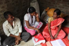 Surekha, a Mobile Health Team member, discusses various methods of prevention to decrease the risk for inner ear problems in our Project Villages.