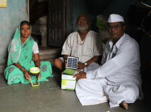 The Mobile Health Team distributed solar lamps to families whose children participated in the Adolescent Boys and Girls Programs.