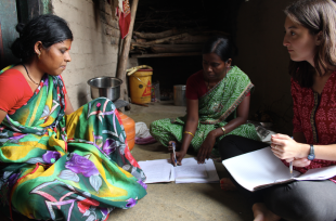 Surekha, a Mobile Health Team member, helped a student from University of Connecticut conduct surveys about breastfeeding.