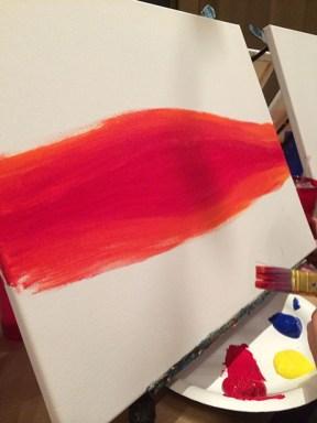First brush strokes