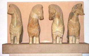 Museum artefact horses