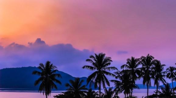 A beautiful sunrise in Chalong Bay, Phuket