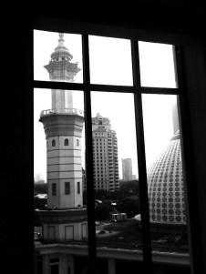 masjid through window