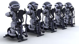 CYBORGg team on cross trainers