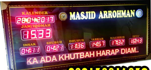 Jam Digital Masjid HDT BIG PLUS