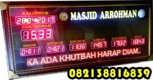 Pemesanan Jam Digital masjid Murah, Pemesanan Timer Iqomah, Pemesanan Jam Timer Sholat Pemesanan Jam Jadwal Sholat murah garansi 082138816839