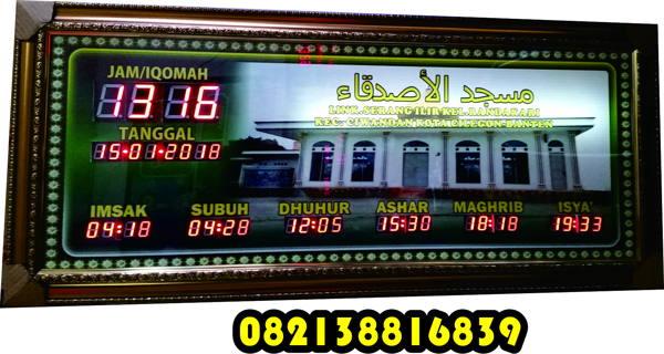 Jam Digital Masjid Tipe Besar Remot