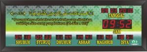 Jual jam jadwal sholat digital masjid murah di bekasi barat