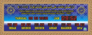 Jual jam jadwal sholat digital masjid murah di bekasi pusat