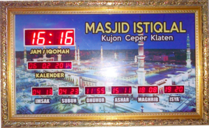 Jual jam jadwal sholat digital masjid murah di tambun utara