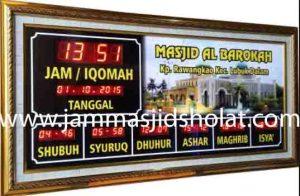 jual jam jadwal sholat digital masjid murah di babelan
